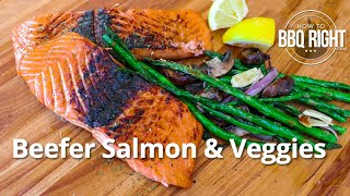 Beefer Salmon – Cooking Salmon & Veggies on the Beefer XL