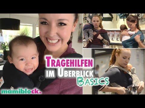 Babytragen im Überblick | Gängige Tragehilfen | mamiblock