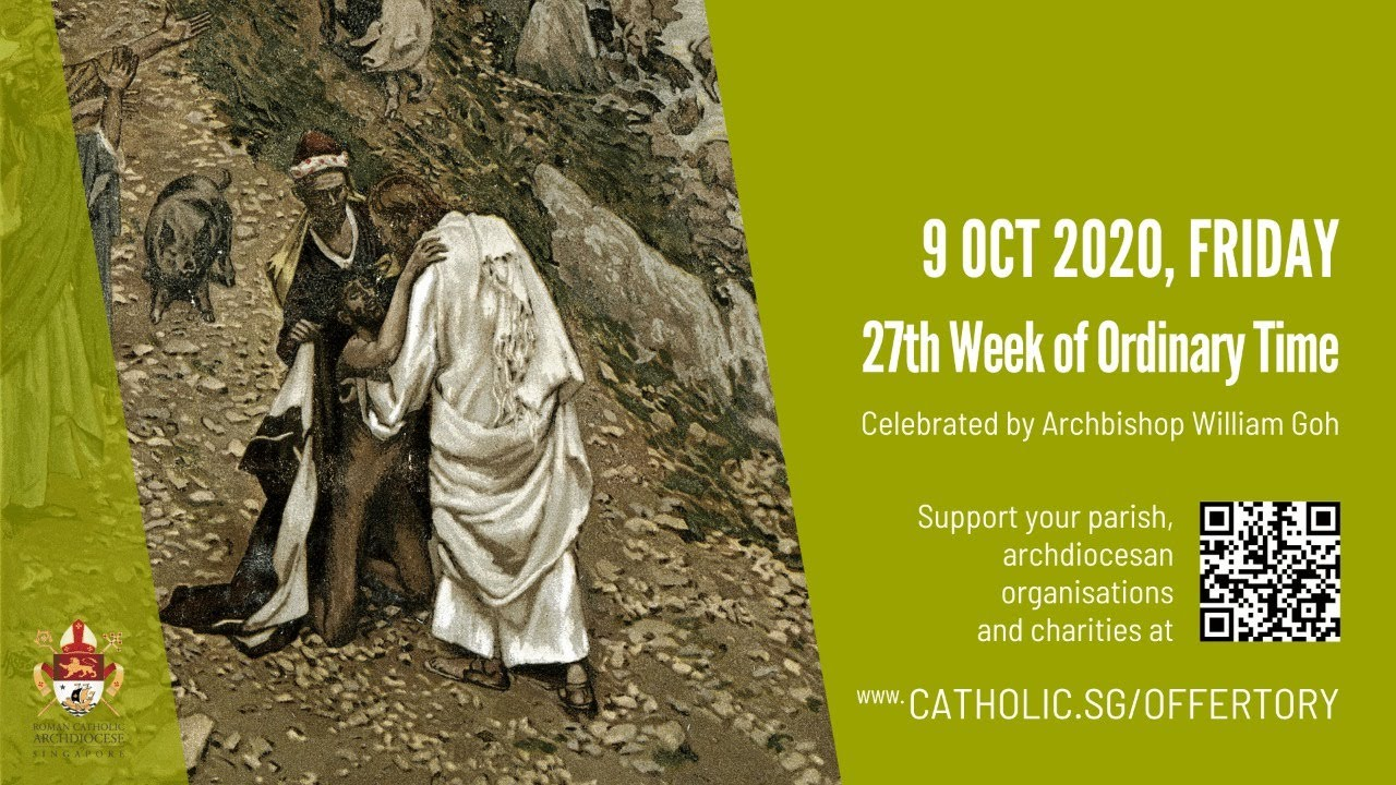 Catholic Mass Today 9th October 2020 Online