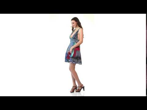 Silk Viscose Luxury Resort & Party Wear Collection Short Dress