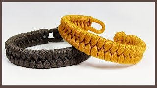 """Single Strand """"Rastaclat Style Fishtail"""" Paracord Bracelet With Loop And Knot Closure"""
