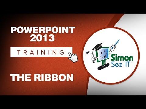 Microsoft PowerPoint 2013 Training - The Ribbon - YouTube
