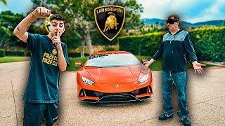 I Bought my Dad a BRAND NEW LAMBORGHINI **super emotional**