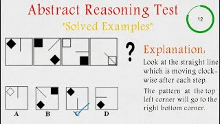 Abstract Reasoning Test | Non Verbal Test | Solved Examples |