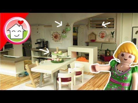 Playmobil Familie Hauser Deko für Herbst/Winter im Wohnhaus - Pimp my PLAYMOBIL für Kinder