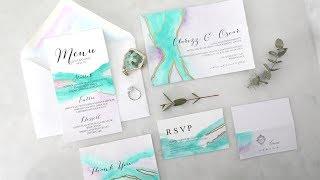 DIY EASY WEDDING INVITATIONS