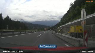 preview picture of video 'Austria (Österreich) A13 Schönberg Stubaital - Knoten Innsbruck Amras x3'