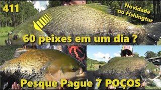60 peixes em um único dia no 7 Poços - Fishingtur na TV 411