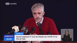 19/03: 3º Caso positivo de Covid-19 nos Açores