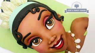Disney Princess Tiana Face Cake Birthday Cake Tutorials