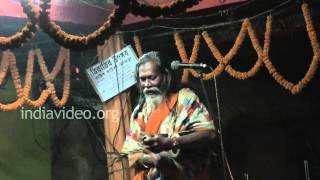 Baul performance by an artiste