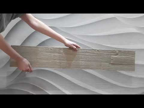 Product detailing video showing the green tea wood wall panel from all angles