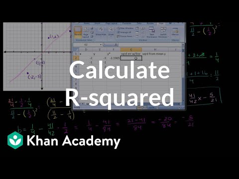 Calculating R-squared | Regression | Probability and Statistics | Khan Academy