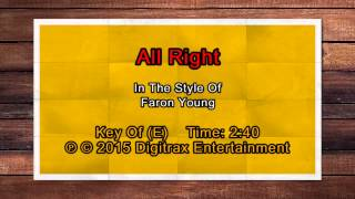 Faron Young - All Right (Backing Track)