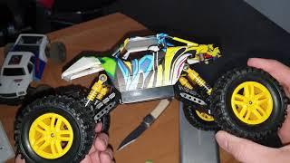 RC Auto 4WD Offroad Rock Crawler 1:18 für Kinder zwei Motoren 2,4 Ghz Graffiti Design