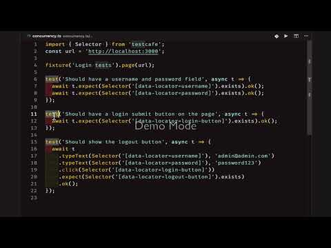 Running TestCafe tests in Parallel - YouTube