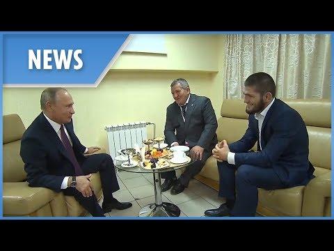 Khabib meets Putin after McGregor victory (ENGLISH SUBS)