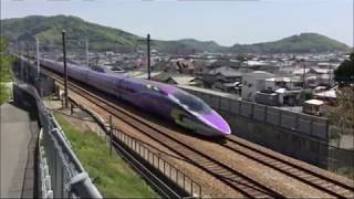 穴場で撮影!?山陽新幹線500TYPEEVAPROJECTエヴァンゲリオン