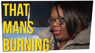 Woman Hilariously 'Reports' Neighbor's Burning House ft. Steve Greene & Gina Darling