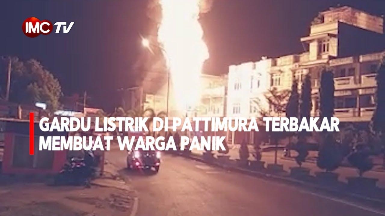 VIDEO: Gardu Listrik di Pattimura Terbakar Membuat Warga Panik