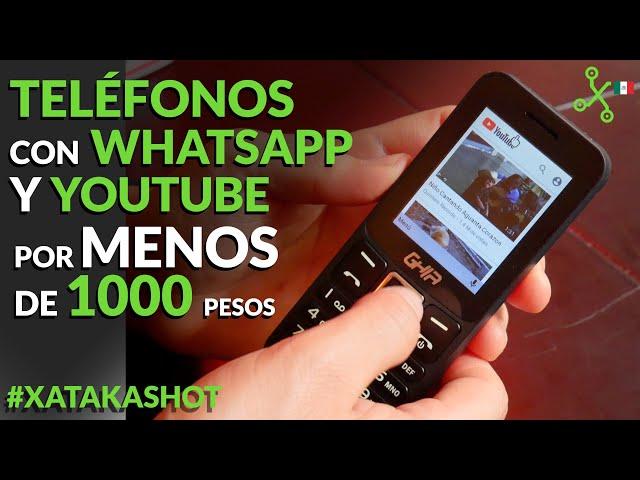 #XATAKAKSHOT: Tres CACAHUATITOS con WhatsApp en México, para estar conectado por menos de 1000 pesos