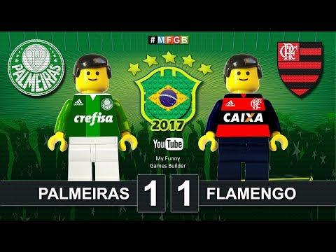 Palmeiras vs Flamengo 1-1 • CBF Confederação Brasileira de Futebol ( Film Lego Football ) Highlights