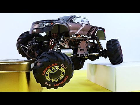 HBX Devaststor 2098B 4 Whhel Steering Mini Crawler DETAILED REVIEW and TEST!
