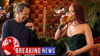 Seth Meyers And Rihanna Go Day Drinking — And Things Get Sloppy Fast!