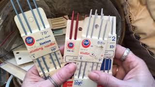Thrift Store Knitting Needles And Michaels Haul FINGERLESS GLOVES WINNER ~ DancesWithPitBulls ~