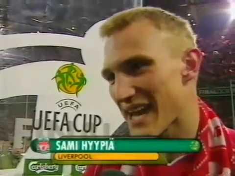 Liverpool FC 5 Alaves 4 - 2001 UEFA Cup Final celebrations Dortmund Westfalenstadion