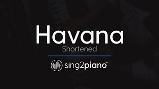 Havana (Shortened) [Piano Karaoke Instrumental] Camila Cabello & Young Thug