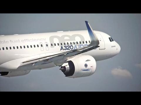 První lety letounů z rodiny A320. Video: FlightGlobal, YouTube