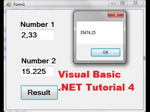 Visual Basic .NET Tutorial 4 – How to Create a Simple Calculator in Visual Basic