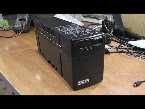 Не включается. ИБП(UPS) Powercom BNT-400AP. Ремонт платы, замена батареи