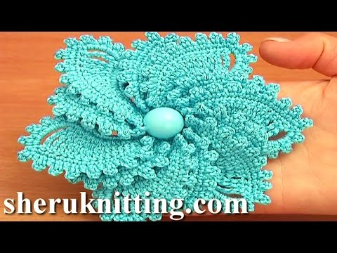 12 Petal Crocheted Spiral Flower Tutorial 69 Flower To Crochet