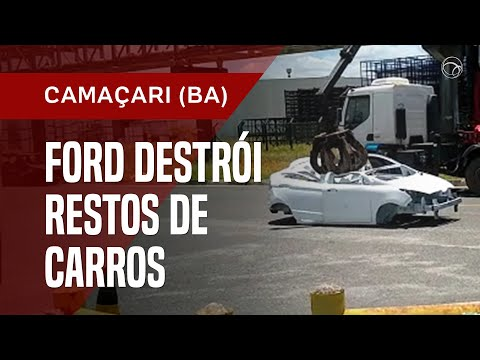 Ford destruye vehículos incompletos