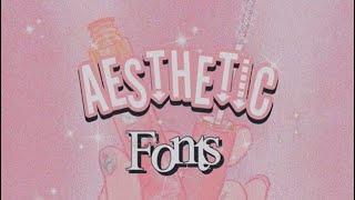 Aesthetic Fonts (dafont.com)||-softhetic