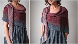 Easiest Knit Shawl Pattern - For Beginners! Knit Your First Shawl - Sonder