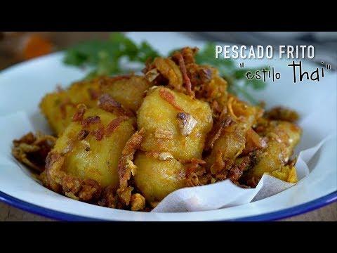Pescado frito Thai con cúrcuma - Southern Thai Style Fried Fish