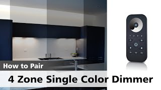 Watch how to pair a SINGLE Color 4 Zone Dimmer with its Receiver