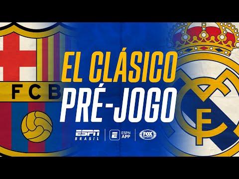 EL CLÁSICO AO VIVO! Barcelona x Real Madrid por La Liga: veja o pré-jogo aqui