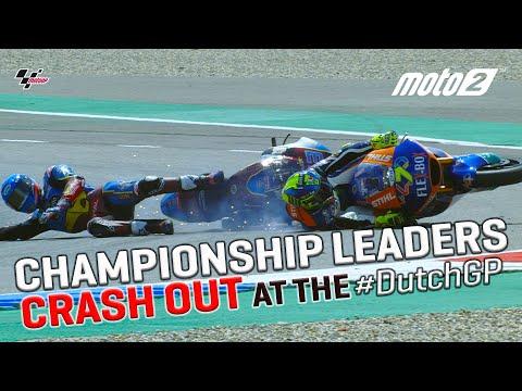 Lorenzo Baldassarri takes out Moto2™ Championship leader, Alex Marquez | MotoGP™ 2019 #DutchGP