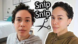 Cutting My Curly Hair Pixie