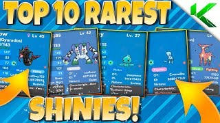 TOP 10 RAREST SHINIES IN BRICK BRONZE! - Pokemon Brick Bronze