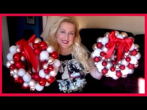 Christmas Ornament Wreath 2 Ways! {a cautionary tale...}