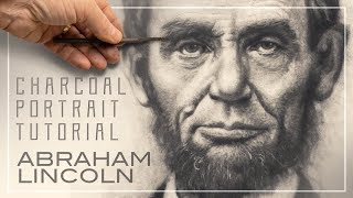 Abraham Lincoln Portrait Getting A Likeness In Artist Charcoal