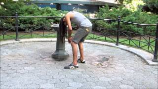"""Man """"On the Nod"""" in Union Square, NYC"""