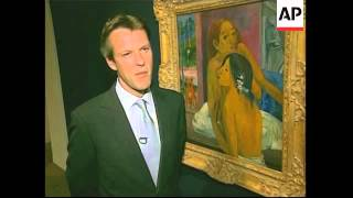 Gaugin and Miro paintings on display at Sotheby's