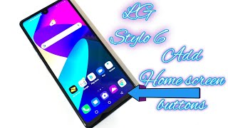 How to add on screen navigation buttons LG Stylo 6