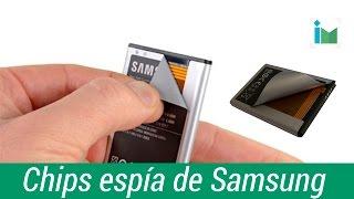 ¿Samsung pone un chip espía en sus baterías?
